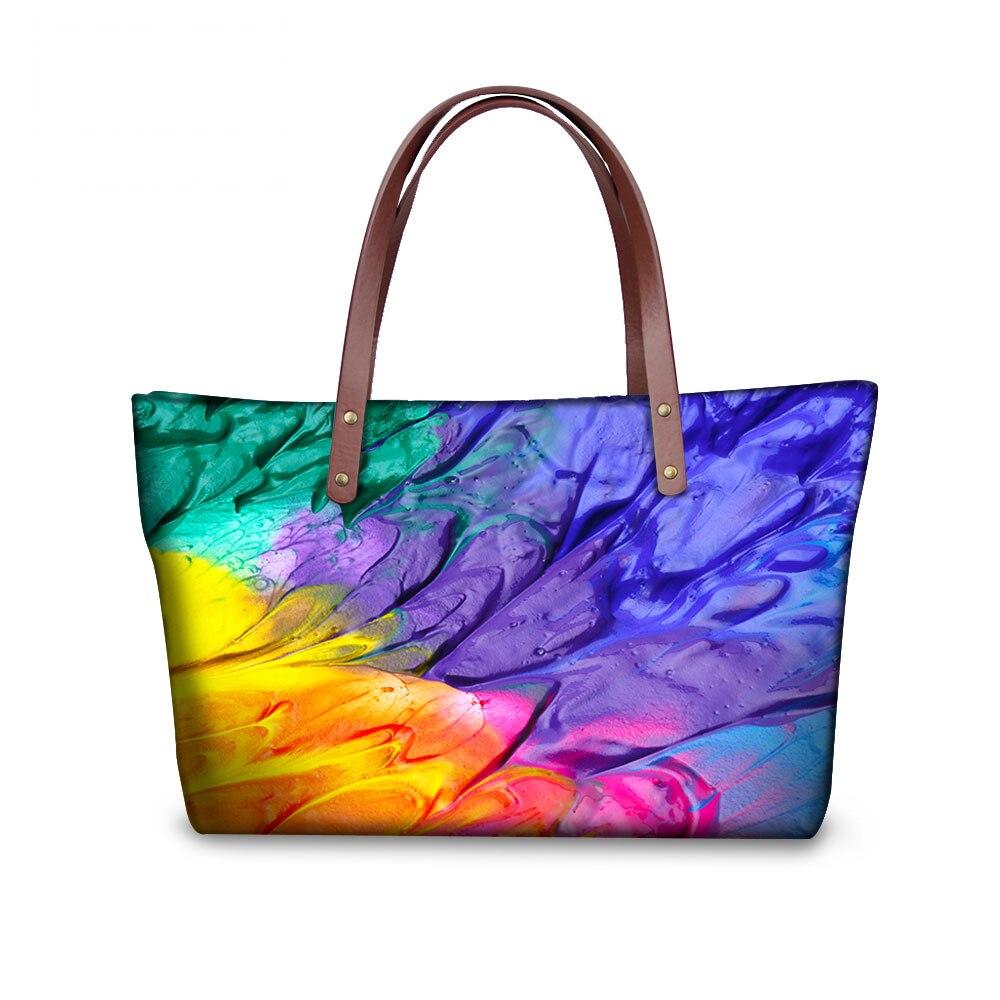 European and American Style Women Handbag Crossbody Bags Colorful Graffiti Top-Handle Satchels Large Women Waterproof Beach Bags<br><br>Aliexpress