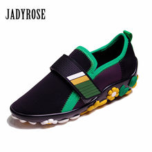Jady Rose Fashion Women Flat Tenis Feminino Breatheable Espadrilles  Platform Creepers Female Casual Loafers Flats Ladies Shoes d0294c49ff89