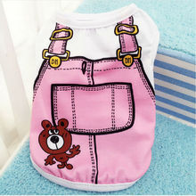 FD38 Summer Pet Dog Casual Cotton Vest Clothes Puppy Fake Strap Shirt Dogs Clothing Costume fo - Little cookie Store store