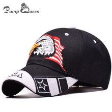 Pump Queen European Fashion Summer Baseball Cap Sun Hats USA Flag Eagle Embroidery Snapback Caps Outdoor Men Women Snapback Hats