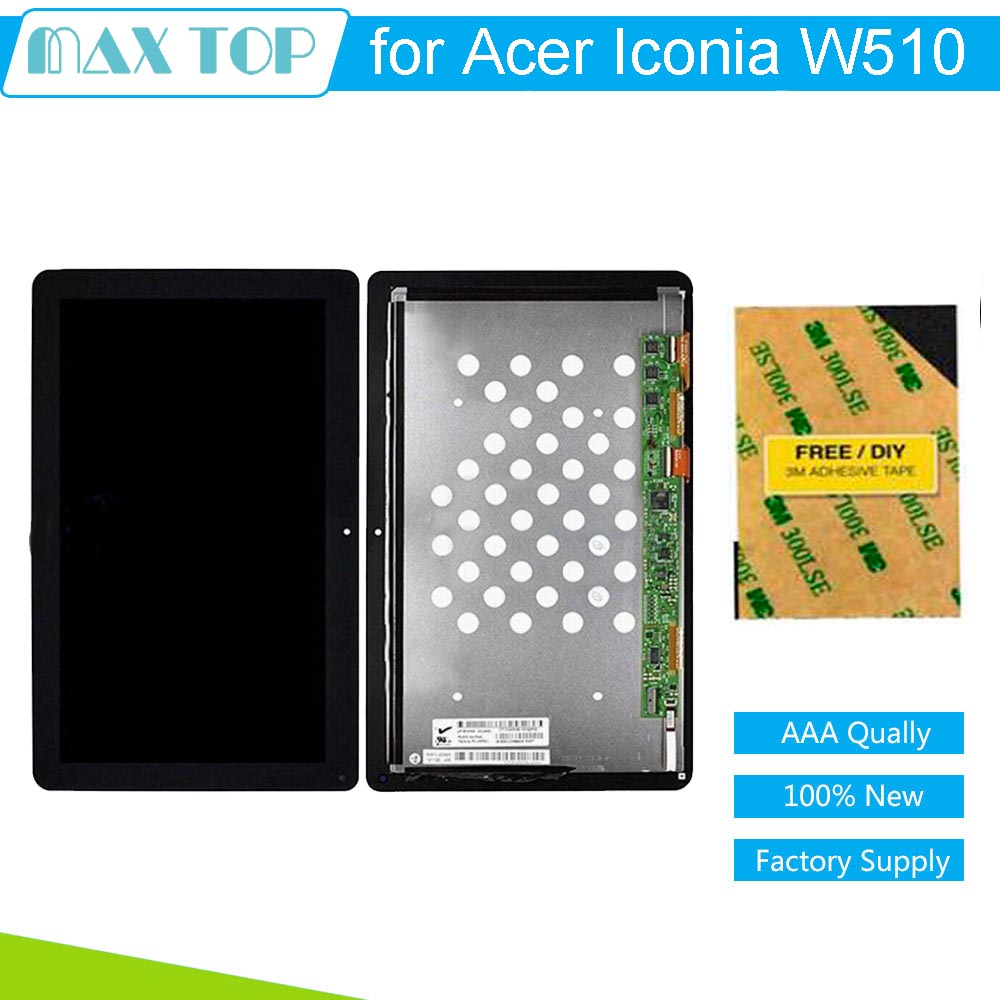 100% tested For Acer W510 LCD Display with Touch Screen Assembly NEW 10.1 for Acer Iconia W510 Replacement Parts<br><br>Aliexpress