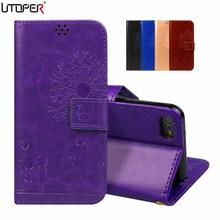 Coque For Apples iPod Touch 5 Touch 6 Case Emboss Lavender Flower Butterfly Flip Leather Case For iPhone 5 5s SE 5G Phone Cover