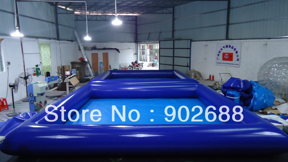 2016 top quality 0.9mm PVC 6x6meter inflatable pool Lead free DHL Free shipping+Free Blower+Free Repair Kits Factory Price(China (Mainland))