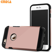 Rose Glod Anti-knock Heavy Tough silm Armor Armour Protect Shield phone bags Case For Apple iPhone 6 6s 4.7 6Plus 5.5 5S 5SE(China)