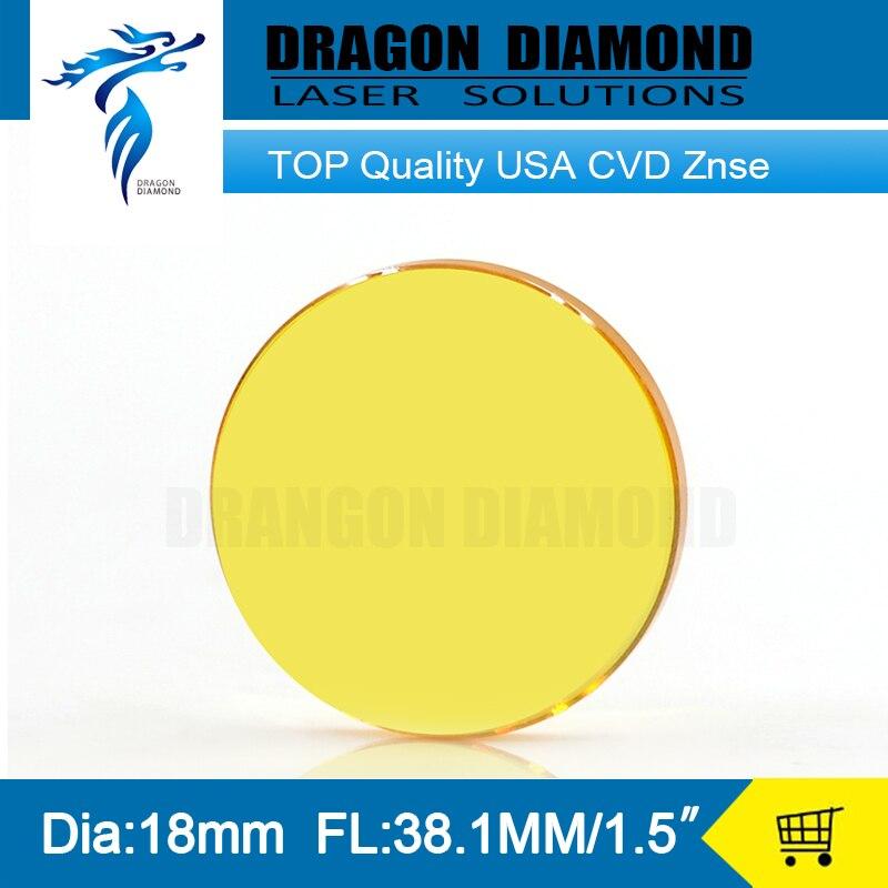 USA CVD ZnSe CO2 Laser Lens 18mm Diameter 38.1mm Focus Length 1.5 Laser focus lens for co2 laser cutting machine<br><br>Aliexpress