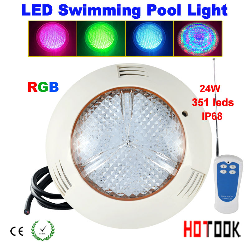 12V LED Underwater light  24w RGB Swimming Pool IP68 Waterproof 351leds Outdoor Lighting Floodlight CE RoHS<br><br>Aliexpress