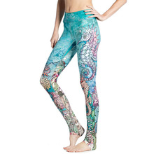 The Underwater World! Fashion Women Pants Hippocampus 3D Printing Leggings Sea Animals Print Slim Legging For Sporting Fitness(China)