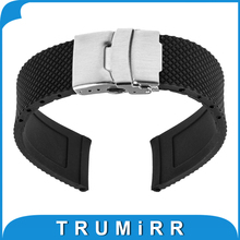 19mm 20mm 21mm 22mm Silicone Rubber Watch Band for Casio BEM 302 307 501 506 517 EF MTP Strap Wrist Belt Bracelet
