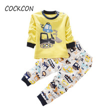 2017 Children Clothing Sets Autumn/Winter Kids Clothes Cute Cartoon Baby Girl Boy Long Sleeve Cotton T-Shirt+Pants 2 Pcs Set