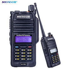 Professional Walkie Talkie Waterproof NKTECH IP57 UV-7RX With SOS FM Radio Station CB Ham VS BAOFENG BF-A58 R760 +headset