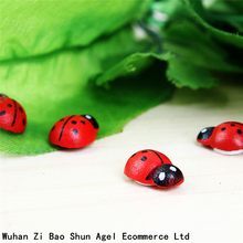 Mini 100pcs/Bag Cute Red Wooden Ladybird Ladybug Sponge Self-adhesive Sticker Kids Scrapbooking Baby Toys Home Decoration(China)