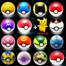 13 Color Children Toy Ball 1pc Pokeball with 1pc Free Random Figure Anime Action Figures Kids Toys