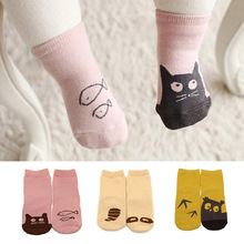 Cotton Baby Socks Newborn Floor Anti Slip Socks Unisex Boy Girl Cute Cartoon Animal Ankle Sock calcetines