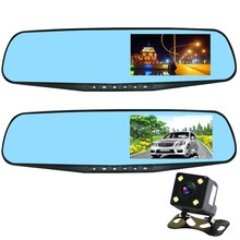 1080P HD wide angle 4.3Inch Parking line Rear view Mirror camera rear view camera DVR Dash Camera accident recorder loop record