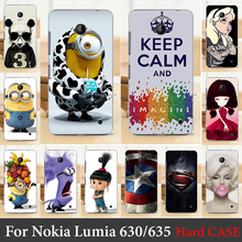 For Nokia Lumia 630 635 N630 N635 case Hard Plastic Cellphone Mask Case Protective Cover Housing Skin Shippin g Free