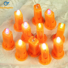 LeadingStar LED Electronic Lantern Wick Hot Air Balloon Candle Toy For Children Yellow Colorful zk15(China)