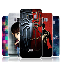 For Samsung galaxy s8 Phone Case cover Soft Silicon Back Cover Colorful Cross painting Cute pattern Cartoon Case spider pattern
