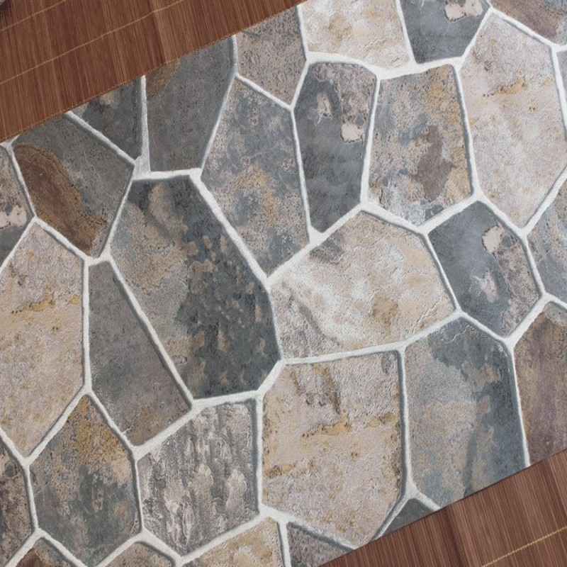 Free Shipping Chinese Retro 3D Stereo Simulation Stone Stones Rock Wallpaper Restaurant Hot Pot shop KTV Cafe wallpaper <br>