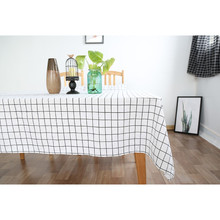 Japan Zakka Style Cotton Linen Plaid Tablecloth Wedding Party Dinner Table Coth Coffee Tables Cover Home Decoration