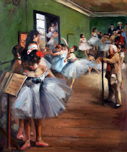Handmade Ballet Dancer Girls Painting The Dance Class by Edgar Degas Art Gifts Oil Painting on Canvas Wall Decoration(China)