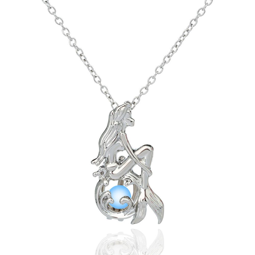 Luminous Mermaid Pendant Necklace