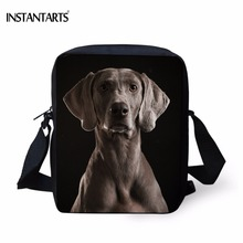 INSTANTARTS 3D Animal Weimaraner Dog Print Boys Girls Mini Crossbody Bags Fashion Messenger Bags Brand Designer Daily Handbags(China)