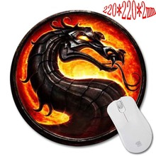 HOT SALES Dragon 3D Printing mini pc  mouse pad round 200 x200x2cm Durable durable mouse pad Can be used to As  Gift