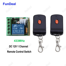 433 MHz Car Door Lock Locking Keyless Entry System Wireless 433MHz DC 12V 1 CH RF Remote Control Switches Transmitter & Receiver