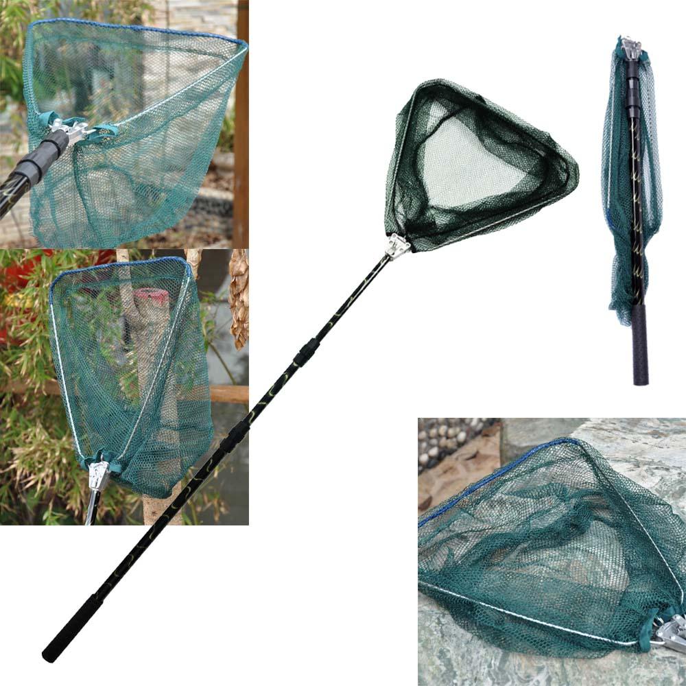 Portable Triangular Telescopic Folding Fishing Landing Net 185cm 6.07ft