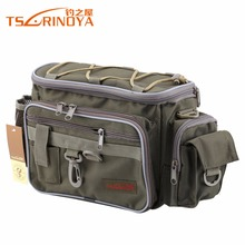 TSURINOYA Brand Canvas Multifunctional Lure Waist Pack Messenger Bag Pole Package Fishing Bag Fishing Tackle Bag 40*19*15cm