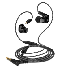 Moxpad X9 Pro Dual Dynamic Driver Professional In Ear Sport Earphone with Mic for Mobile MP3 player Replacement cable(China)