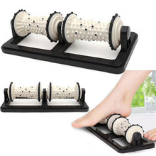Foot Massage Rolling Wheel Small Household Foot Acupoint Pedicure Machine Dual Foot Massage Roller Feet Massager(China)