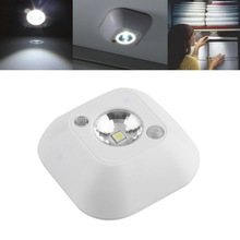 1pc New Mini Wireless Infrared Motion Sensor Ceiling Night Light Battery Powered Porch Lamp Brand New(China)