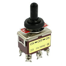 Promotion! AC 250V 15A 6 Pin DPDT On/Off/On 3 Position Mini Toggle Switch