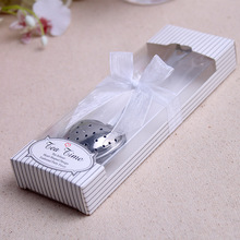 Love Heart Shaped Tea Strainer Stainless Steel Filter Great Gift Idea For Wedding(China)