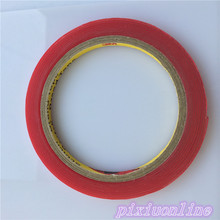 1pc J055Y Acrylic Adhesive Tape Red Release Paper Width 6mm High Transparency DIY Parts High Quality On sale(China)