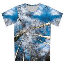 Joyonly 2018 Children s Sunshine Big Tree Blue Sky Weed Design Funny 3d T-shirts  Boys Girls Summer T shirts Kids Casual Tops f6831e70befd