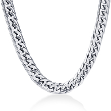 Buy 24'' Mens Chain Stainless Steel Necklace 8mm Curb Cuban Link Silver Color Fashion Jewelry for $3.67 in AliExpress store