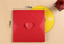 12-15 Alice, 13*13cm Red paper CD envelope BAG ,New design Wedding party CD/DVD gift box for guest,paper disk box(China)