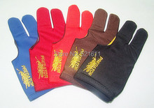Free shipping 6pcs/lot high Elasticity 3 finger billiard gloves/Pool Table Snooker billiard table Gloves(China)