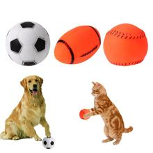 Dog Puppy Sound Chew Toys Football Baseball Rugby Ball Play Toy Pet Dog Sound Toy Small Dog Squeakers Squeaky Supplies(China)