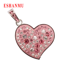 Jewelry Heart USB 2.0 Memory Stick Pen Drive Pink Pendrive 16GB Memory USB Flash Drive 4GB 8GB 16GB 32GB