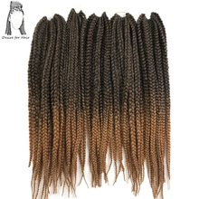 Desire for hair 10packs 24inch 110g 12strands per pack synthetic crochet braided box braids hair ombre blonde burgundy color(China)