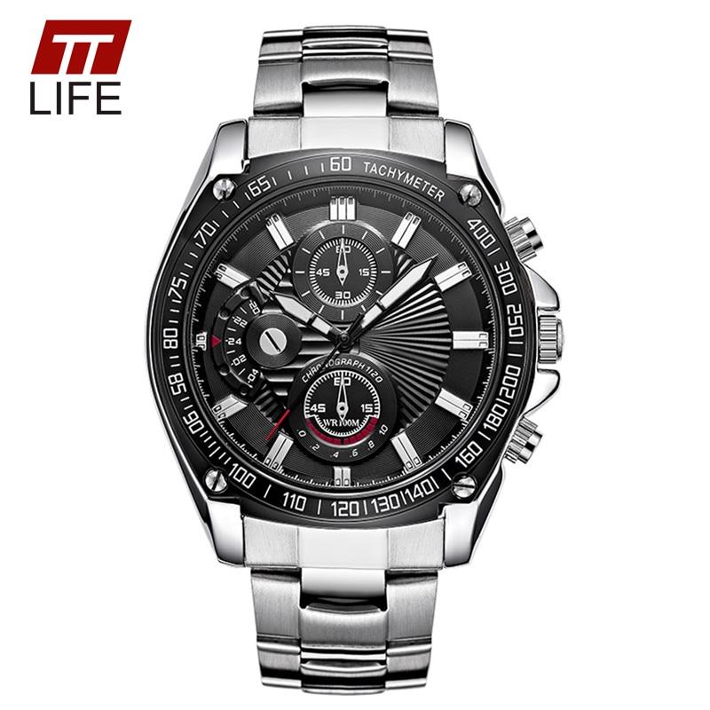 Fashion Watch Men 2016 Popular Brand TTLIFE Luminous Analog Quartz Male Watches  Waterproof Three Eyes Decoration Wrist Watches<br><br>Aliexpress
