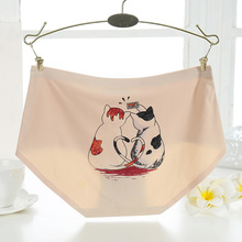 Buy 1pcs Women Cartoon Briefs Sexy Cotton Animal Cats Bears Rabbits Pattern Seamless Panties Lingerie Cute Female Underwear