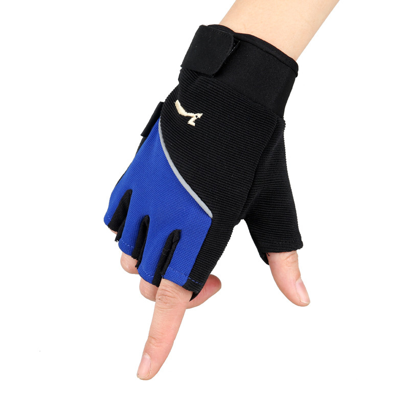 New summer and semi finger gloves, men and women, non slip, sun, thin, outdoor sports, breathable gloves<br>