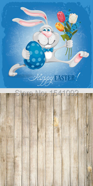 1.5X3M Customize vinyl photography backdrop newborn easter wood computer print  background for photo studio F046<br><br>Aliexpress
