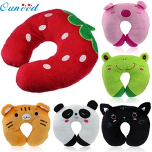 Ouneed Lovely pet hot selling New Car Home Office Accessory Soft Cartoon U Shaped Neck Relax Pillow oct105