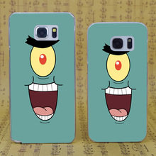 B3570 Sponge Bob Square Pants Transparent Hard PC Case Cover For Samsung Galaxy S 3 4 5 6 7 Mini Edge Plus Note 3 4 5 7