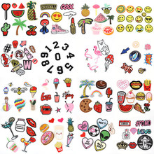 New!!!Embroidered Iron on Patches Sets Animal Numbers Letters Multicolor Fashion Parches Biker For Clothing Jeans Fabric Badges(China)
